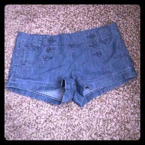 Forever21 sailor style jean short shorts